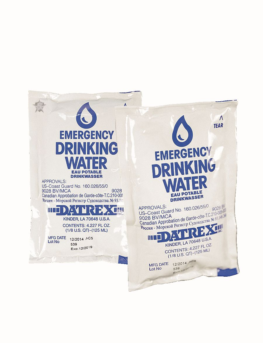 Water, Emergency Purified Drinking-