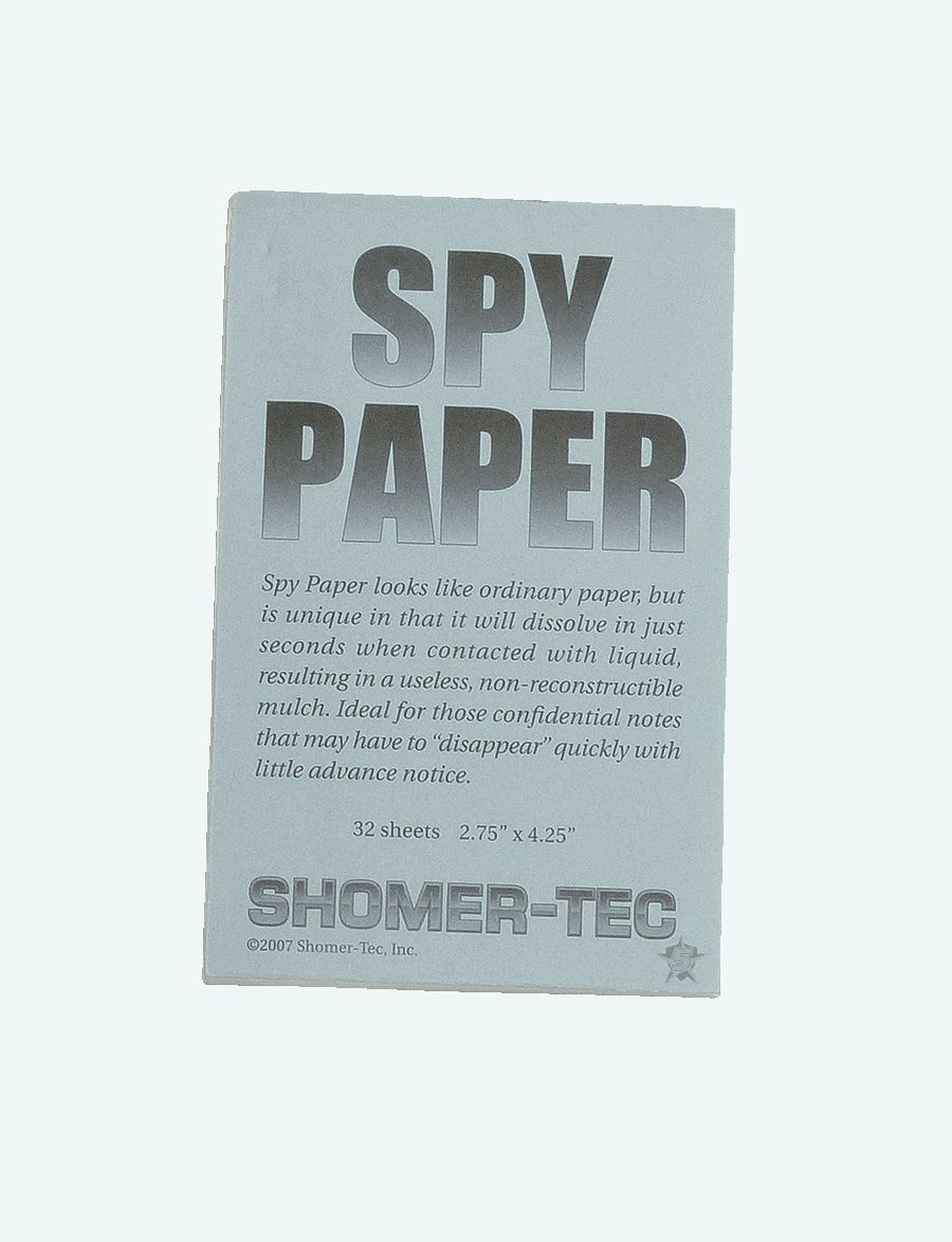 Paper, Spy-Tru-Spec