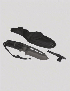 Black T2xl Survival Paracord Knife-Tru-Spec