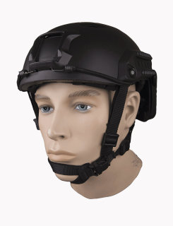 5ive Star Gear Black Advanced Base Jump Helmet With Accessory Pack-Tru-Spec®