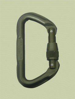Omega Pacific 7000 Series Locking Tactical D Carabiner-Tru-Spec