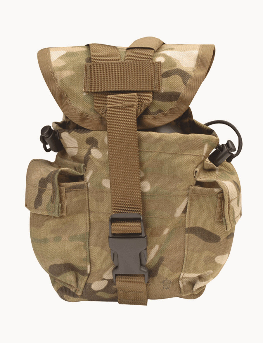 Multicam Camouflage Military Tactical MOLLE 1 Qt Canteen Cover Rothco 6