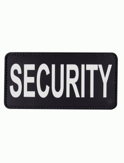 "Pvc Morale Patch - Security, Black And White Letters, 6"" X 3-"