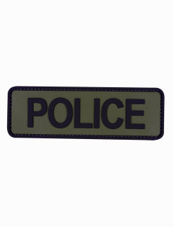 "Police Olive Drab With Black Letter 6"" X 2"" Morale Patch-"
