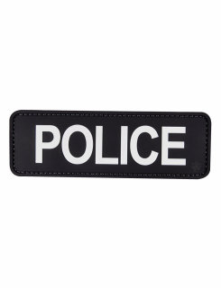 "Police Black With White Letters 6"" X 2"" Morale Patch-Tru-Spec"