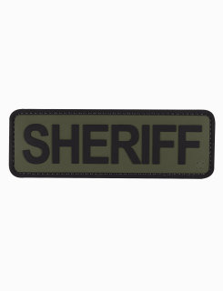 "Sheriff Olive Drab With Black Letters 6"" X 2"" Morale Patch-"