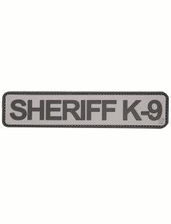 "Sheriff K-9 1-3/4"" X 8"" Grey & Black Morale Patch-"
