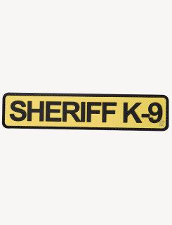 "Sheriff K-9 1-3/4"" X 8"" Gold & Black Morale Patch-"