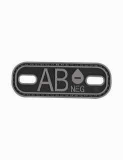Ab- Blood Type Black & Grey Morale Patch-