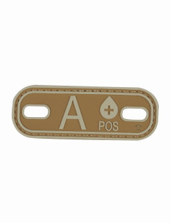 A+blood Type Coyote & Tan Morale Patch-Tru-Spec