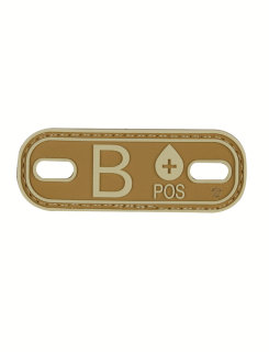B+ Blood Type Coyote & Tan Morale Patch-