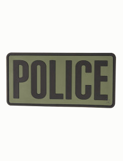 "Police Olive Drab With Black Letters 6"" X 3"" Morale Patch-"
