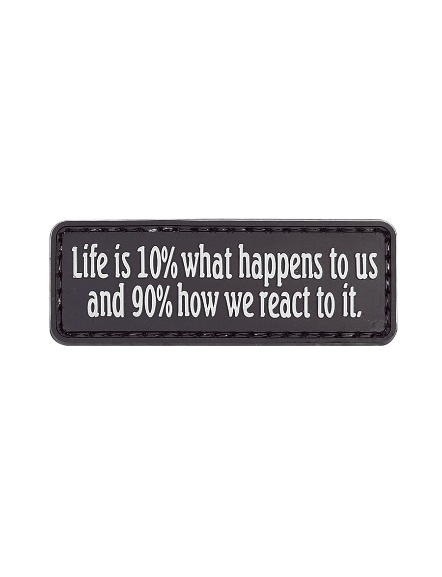 Morale Patch, Life Is 10% What Happens-Tru-Spec