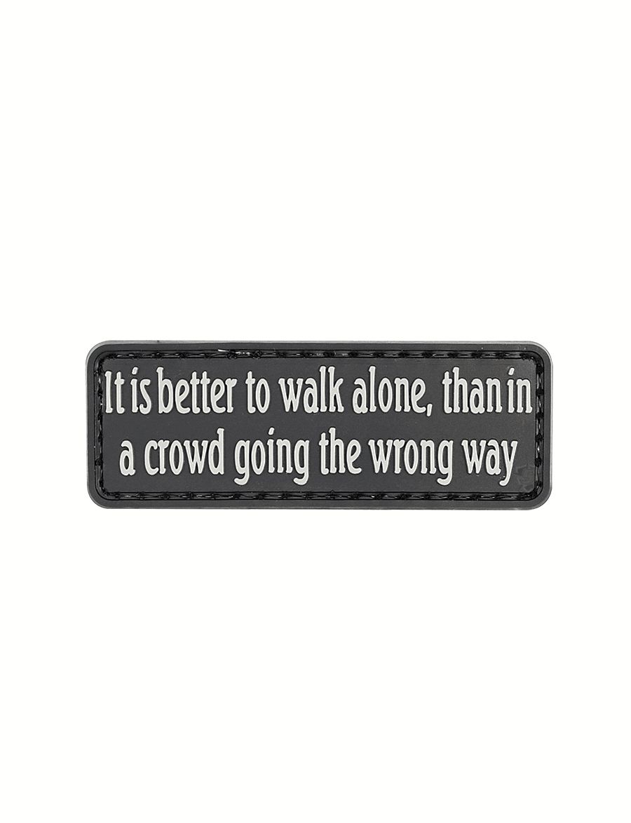 Morale Patch, It Is Better To Walk Alone-