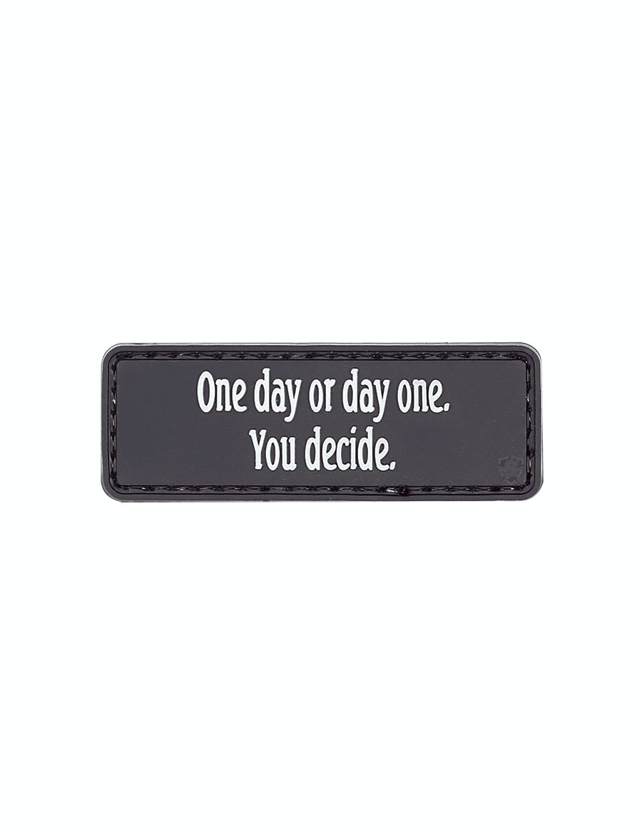 Morale Patch, One Day Or Day One-