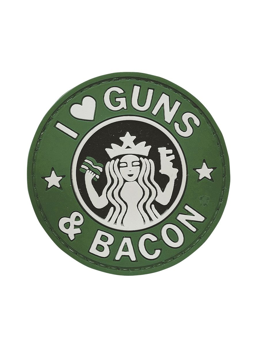 Pvc Morale Patch - Guns And Bacon-