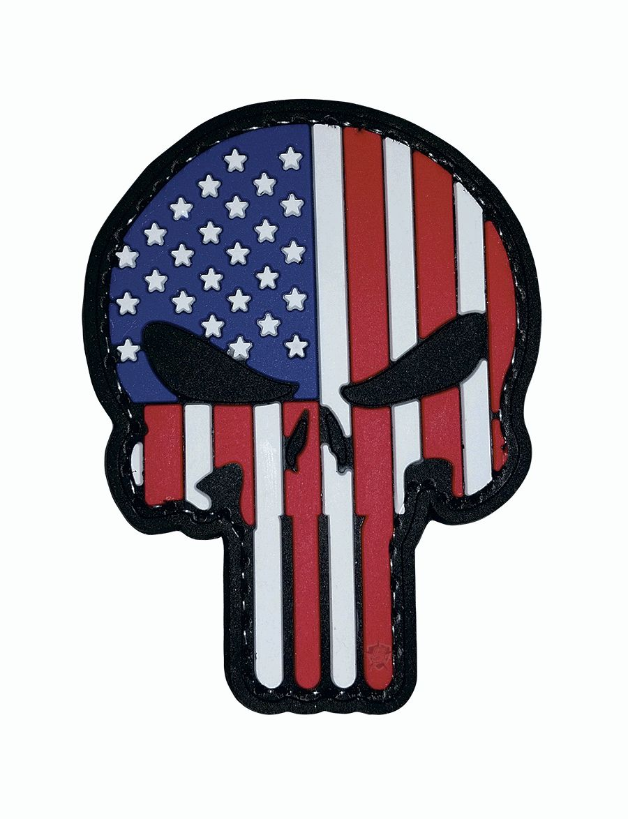 Pvc Morale Patch - Punisher / Patriotic-