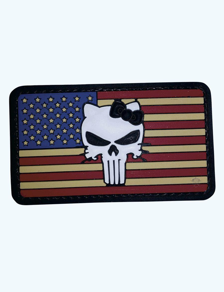 Pvc Morale Patch - Vintage Flag / Kitty-