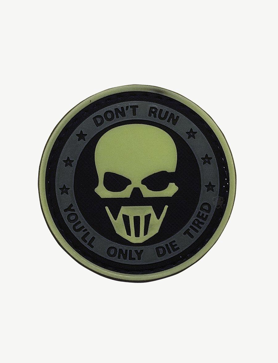 Pvc Morale Patch - Glow / Don'T Run Ghost-Tru-Spec