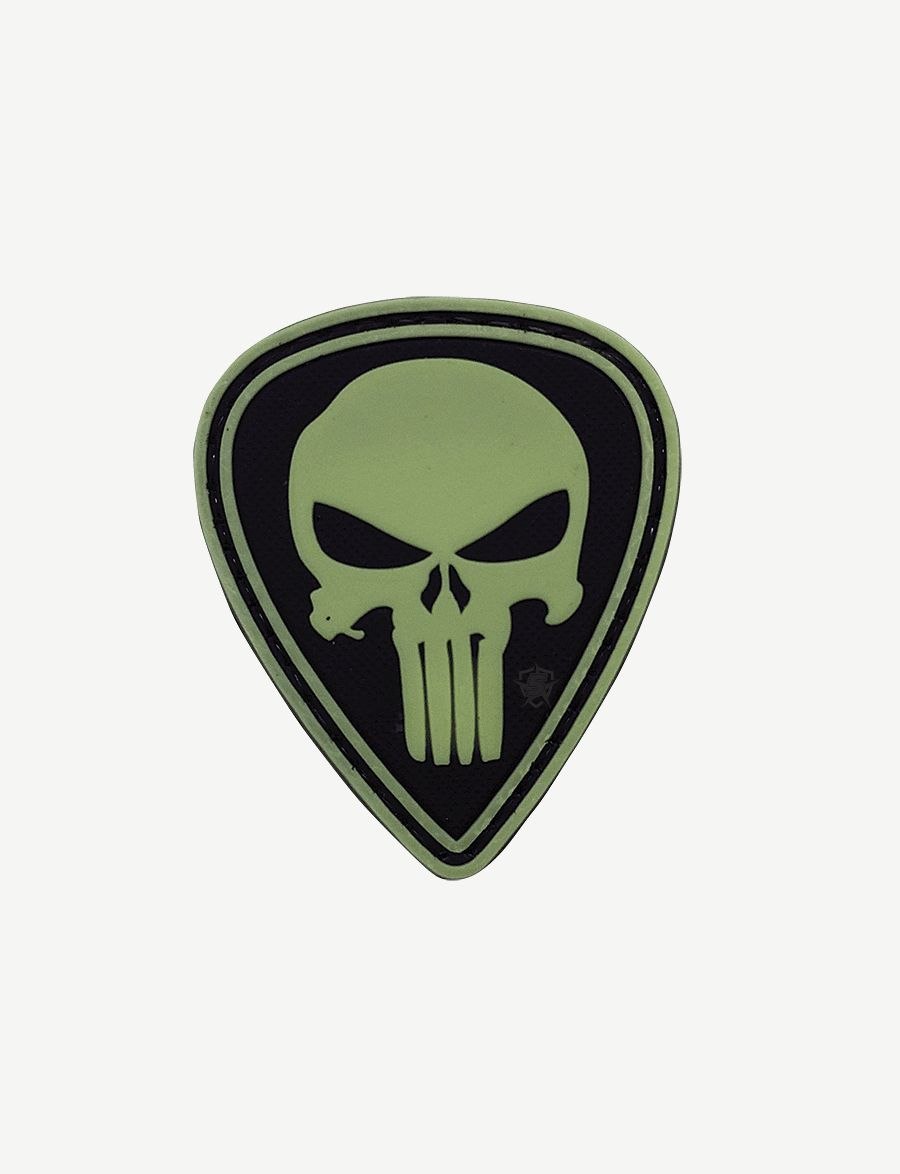 Pvc Morale Patch - Glow / Punisher Diamond-