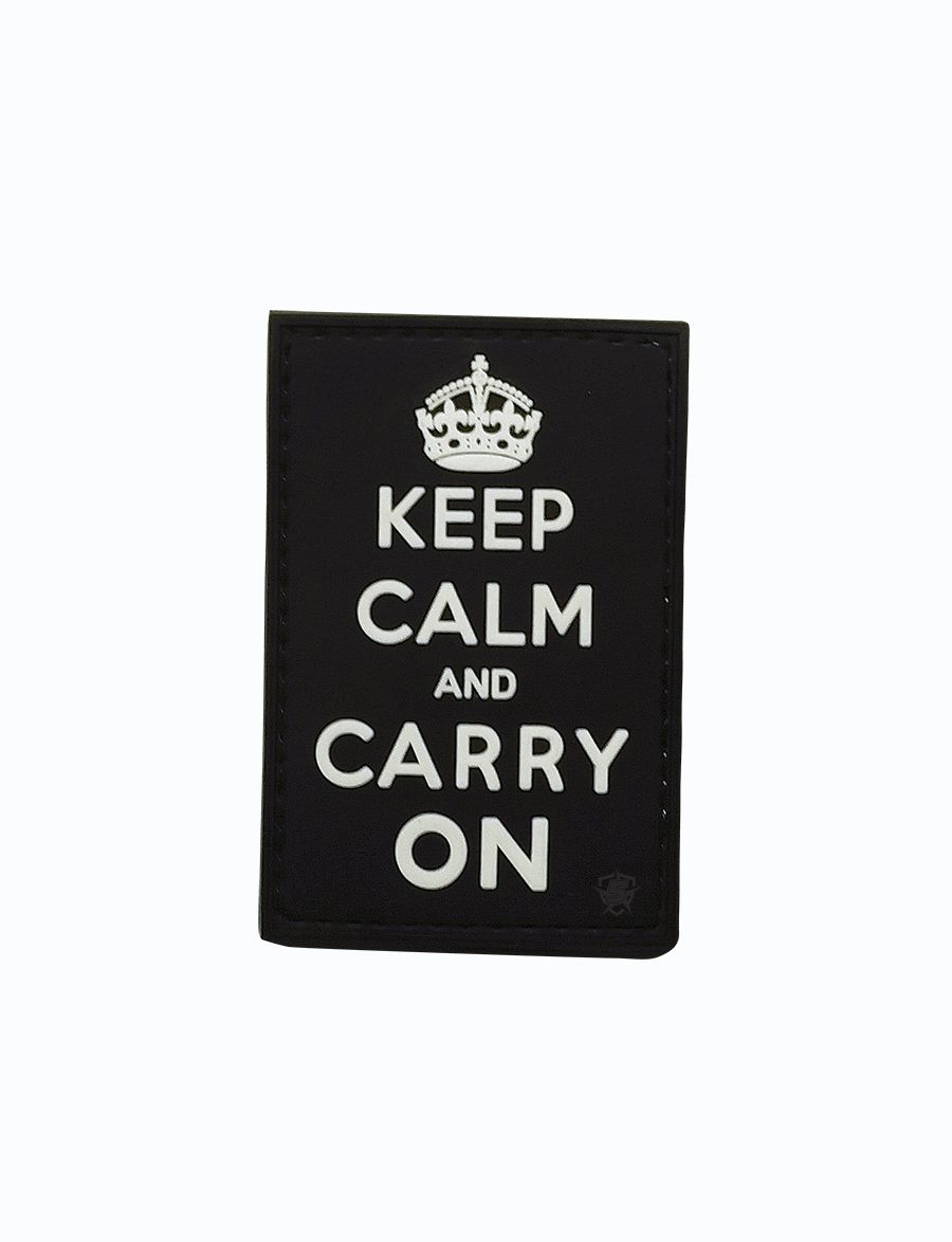 Pvc Morale Patch - Keep Calm And Carry On-