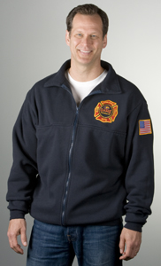 Firefighter's Full-Zip Work Shirt-Game Sportswear
