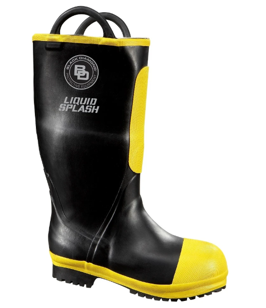 Black Diamond Rubber Firefighting Boots -Black Diamond Boots