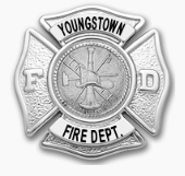 Youngstown FD Hat Badge-Blue Line Ltd.