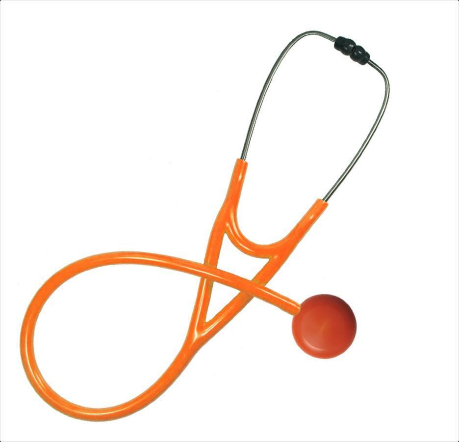 Orange MaxiScope Single Stethoscope