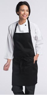 Adjustable 2 Patch Pockets Bib Apron