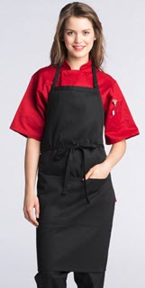 Adjustable Butcher 2 Section Pocket Apron