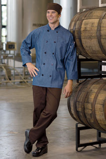 Aspen Chambray Chef Coat-Uncommon Threads