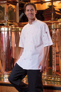 Delray with Mesh Chef Coat-Uncommon Threads