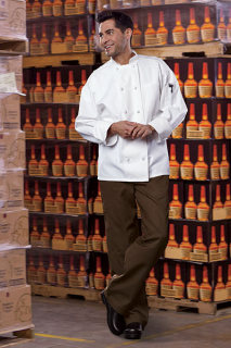 Classic Knot With Mesh Chef Coat-