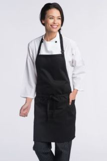 Adjustable 2 Patch Pockets Bib Apron-