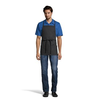 3011 Adjustable 3-Pocket Bib Apron-