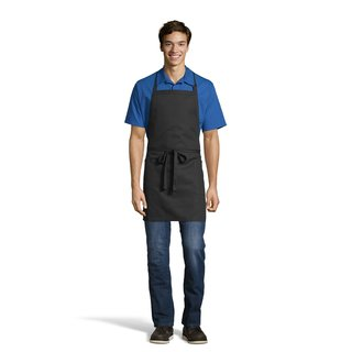 3016 2-Patch-Pocket Bib Apron-