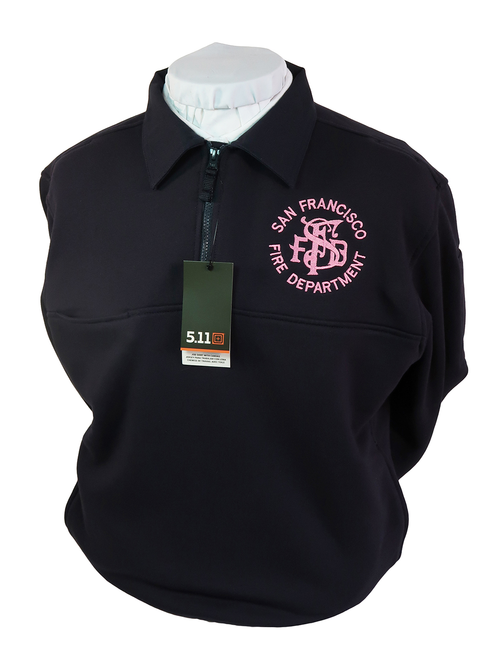5.11 Job Shirt with Pink SFFD Antique Logo-Banner