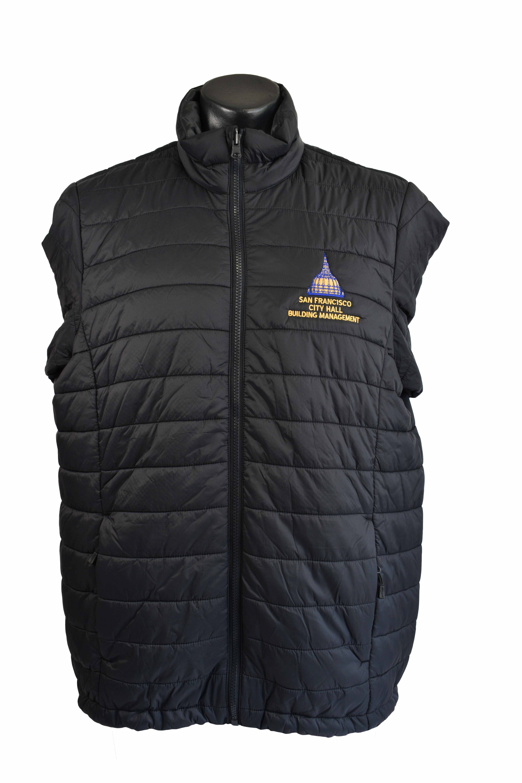 san francisco city hall building management uniforms black vest embroidery logo