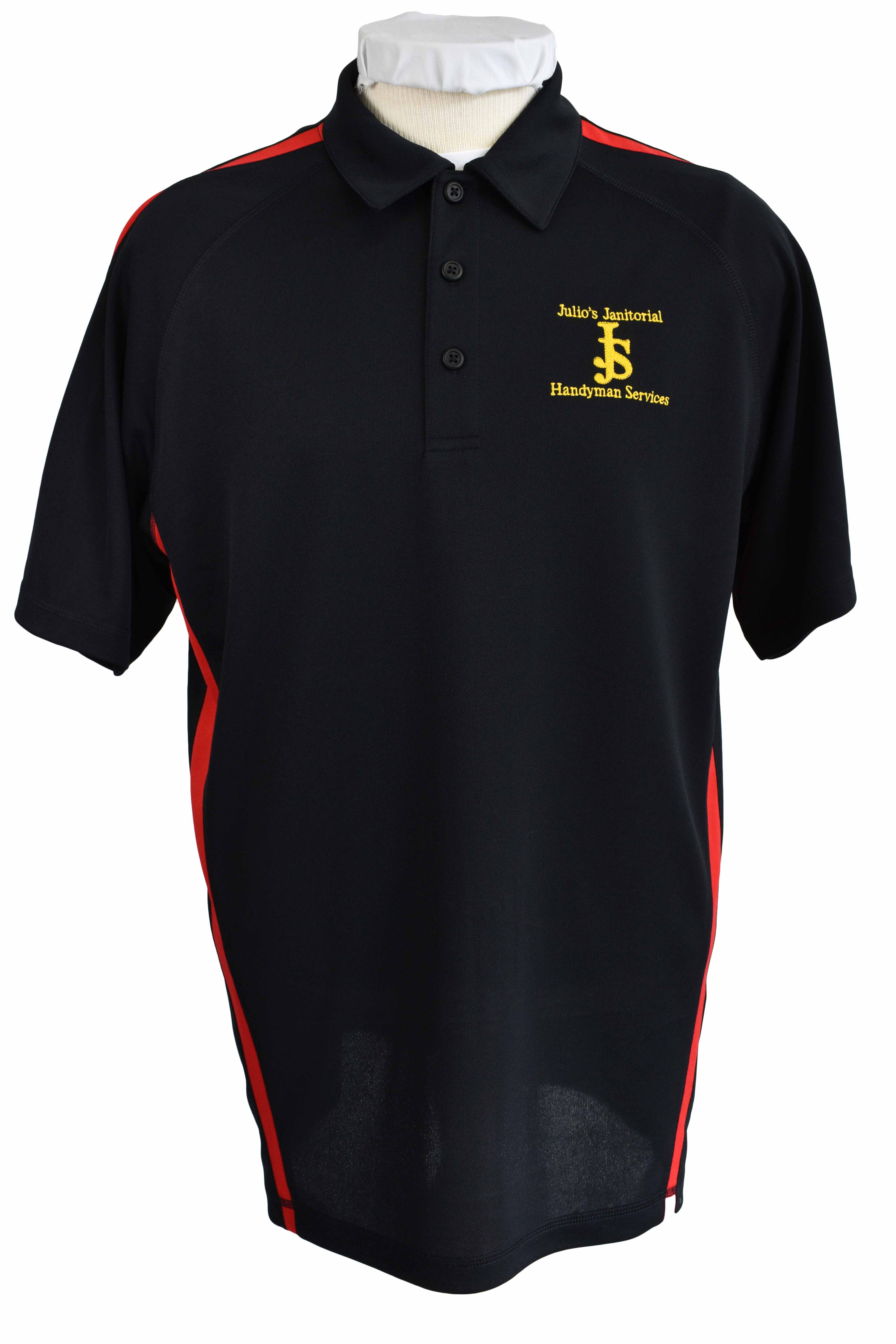 janitorial uniforms embroidery logo polo shirts
