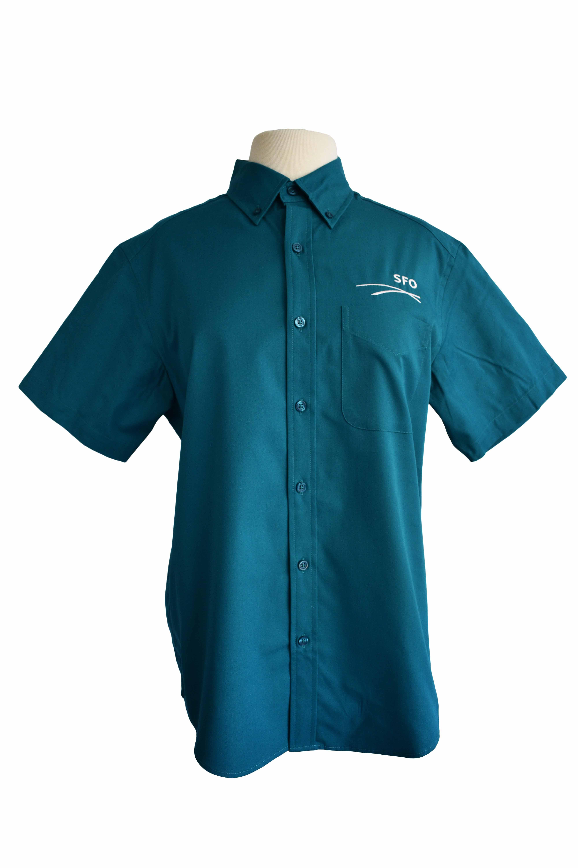 sfo uniforms shirt embroidery logo