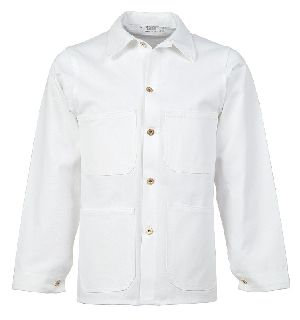 Overall Jacket, 8.5 oz. Bleached White Twill