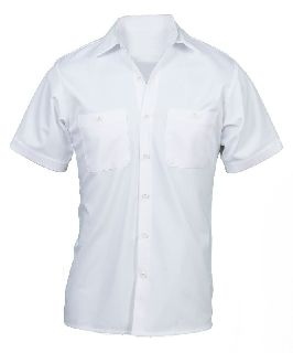Wrinkle-Resistant Cotton Work Shirt-Short Sleeve-