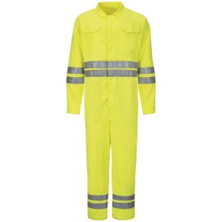 Hi-Vis Deluxe Coverall with Reflective Trim - CoolTouch 2 - 7 oz.
