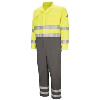 "Deluxe Colorblocked Coverall with 2"" Reflective Trim - CoolTouch 2 - 7 oz.-"