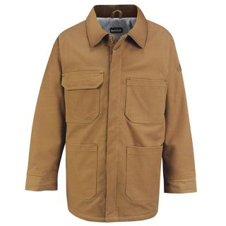 Brown Duck Linemans Coat - EXCEL FR ComforTouch-Bulwark�