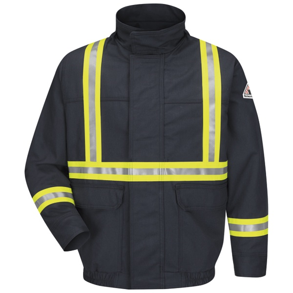 Lined Bomber Jacket With CSA Reflective Trim - EXCEL FR ComforTouch-Bulwark®