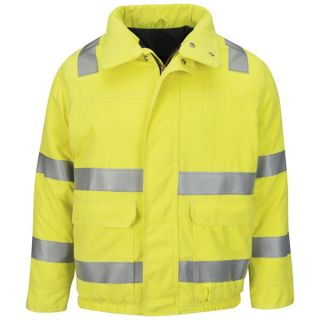 Hi Vis Lined Bomber Jacket with Reflective Trim - CoolTouch 2-Bulwark®
