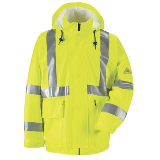 Hi-Visibility Flame-Resistant Rain Jacket CAT2-Bulwark®