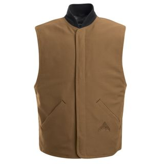 Brown Duck Vest Jacket Liner - EXCEL FR ComforTouch-Bulwark�